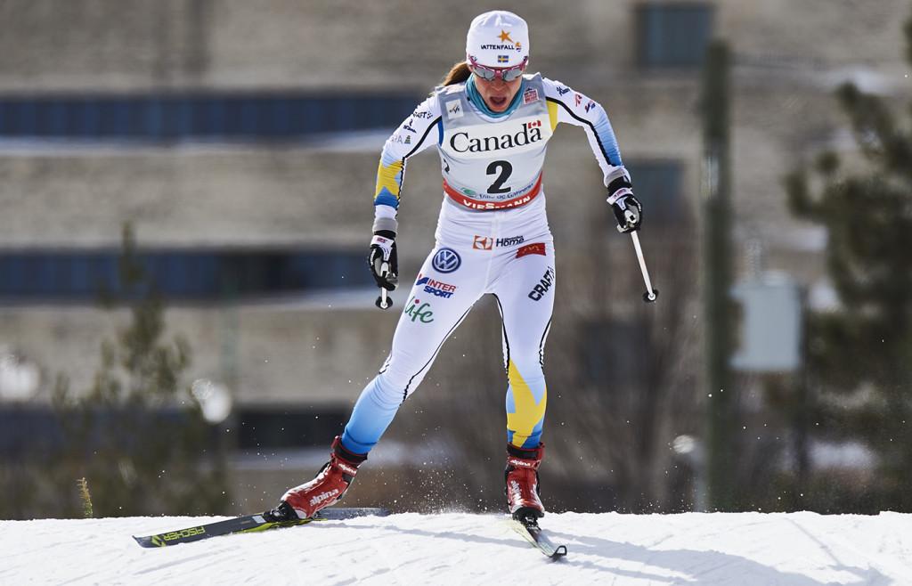 160301 Sveriges Maria Rydqvist tävlar i individuell sprint under världscuptävlingen den 01 Mars 2016 i Gatineau, Kanada. Foto: Felgenhauer  / BILDBYRÅN /